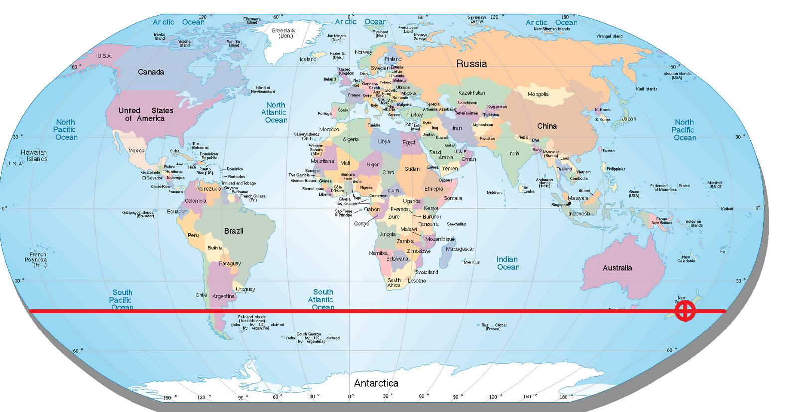 Australia Map Latitude.New Zealand Latitude Map Map Of New Zealand Latitude Australia