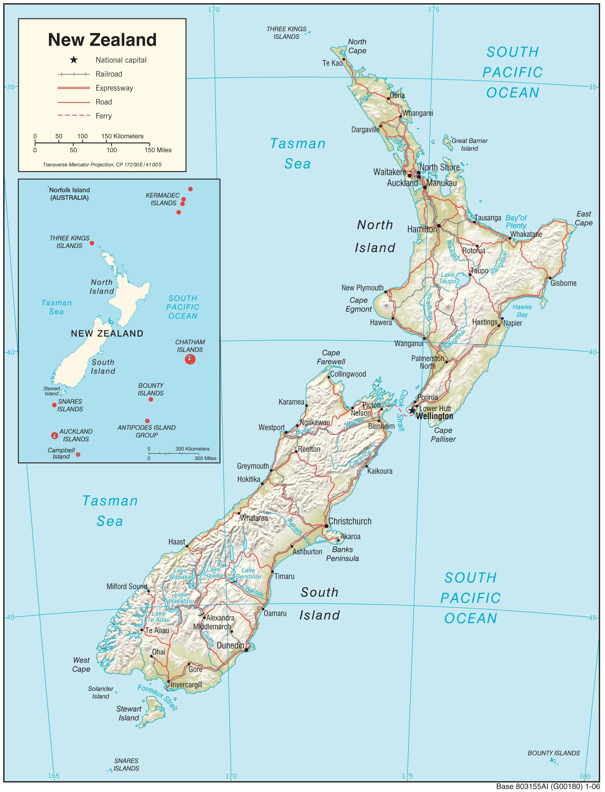 New zealand map - New zealand map hd (Australia and New Zealand ...