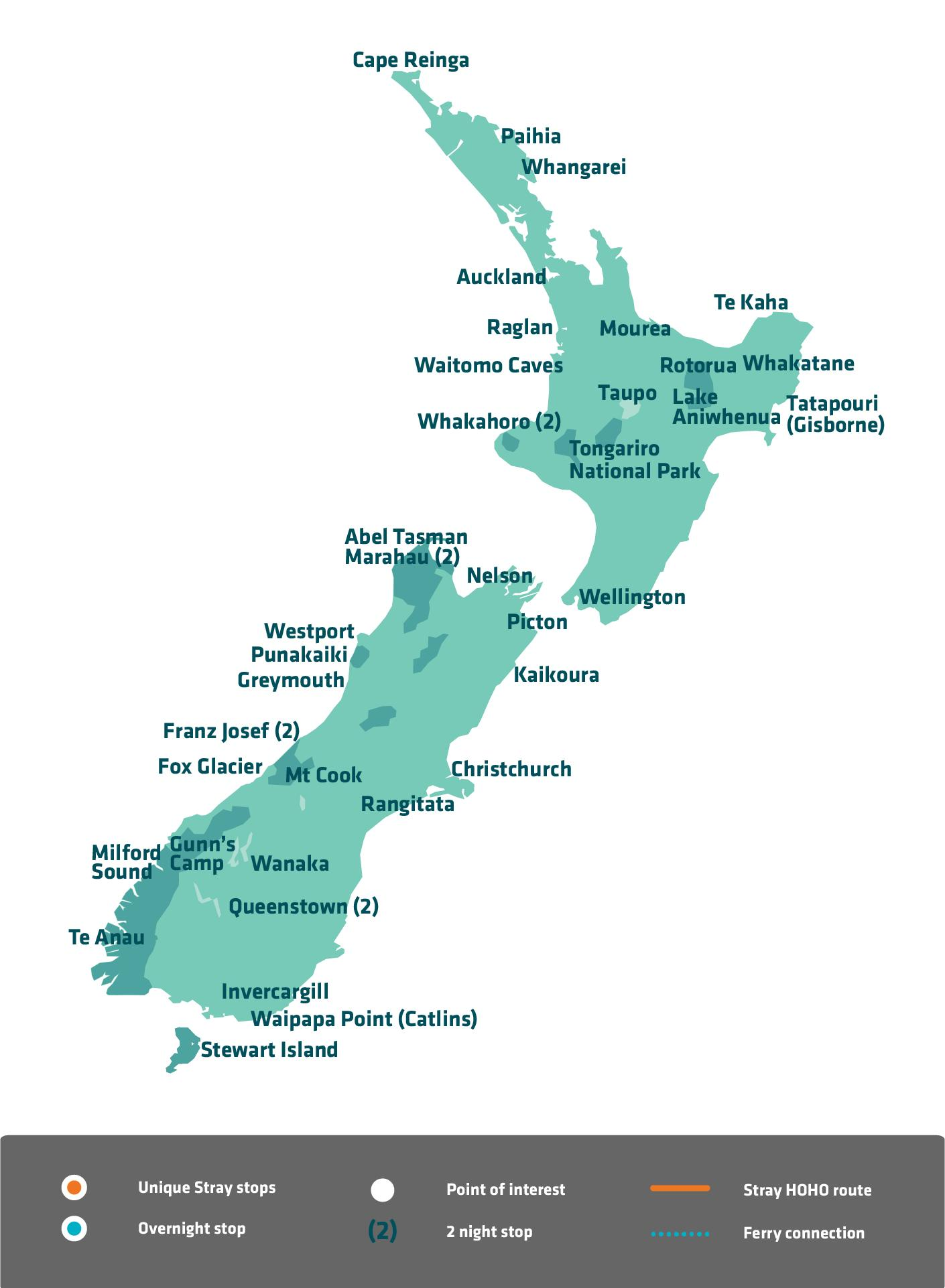New Zealand Sightseeing Map.New Zealand Sightseeing Map Map Of New Zealand Sightseeing