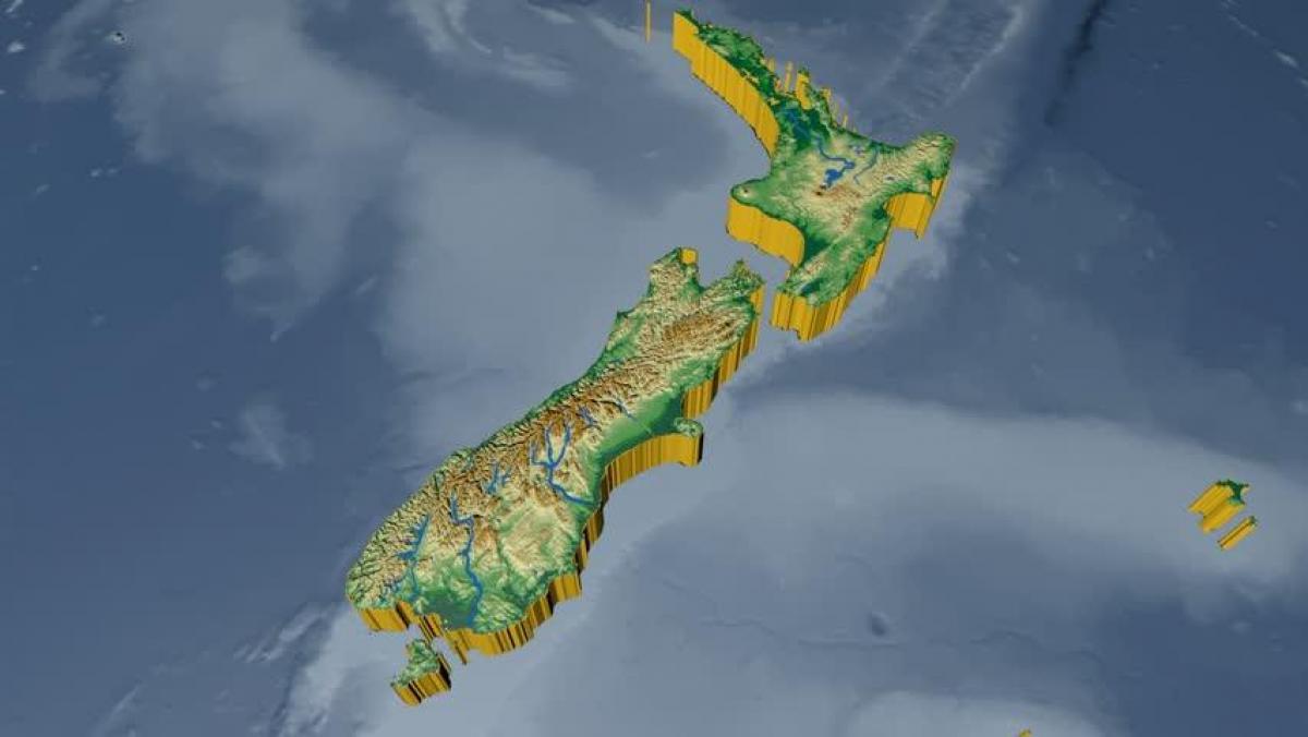 3d Map Of New Zealand.3d Map Of New Zealand Map Of 3d New Zealand Australia And New