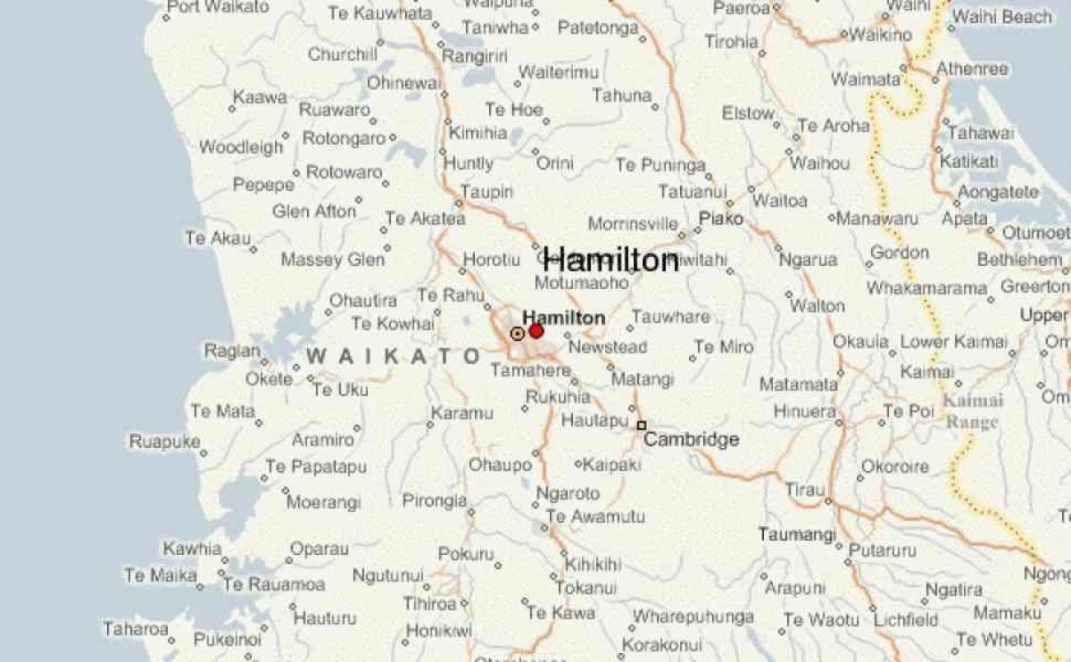 Hamilton Map New Zealand.Hamilton New Zealand Map Map Of Hamilton New Zealand Australia