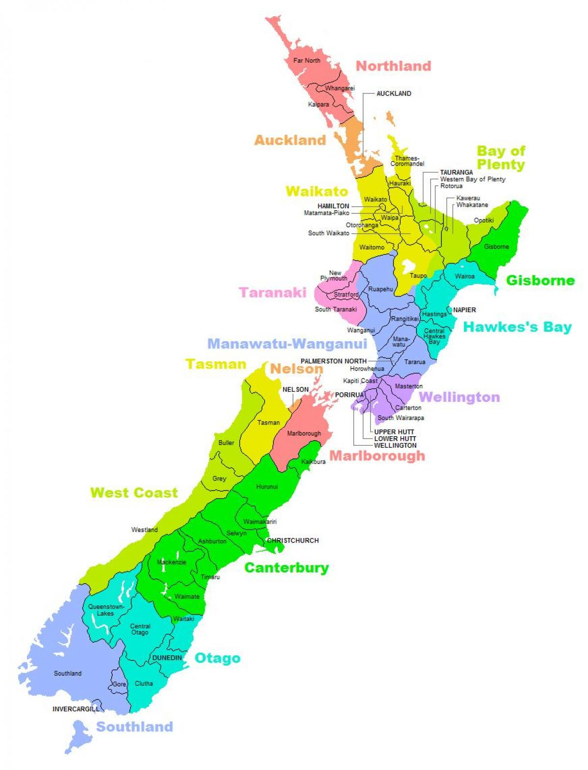 New zealand political map - Political map of australia and ...