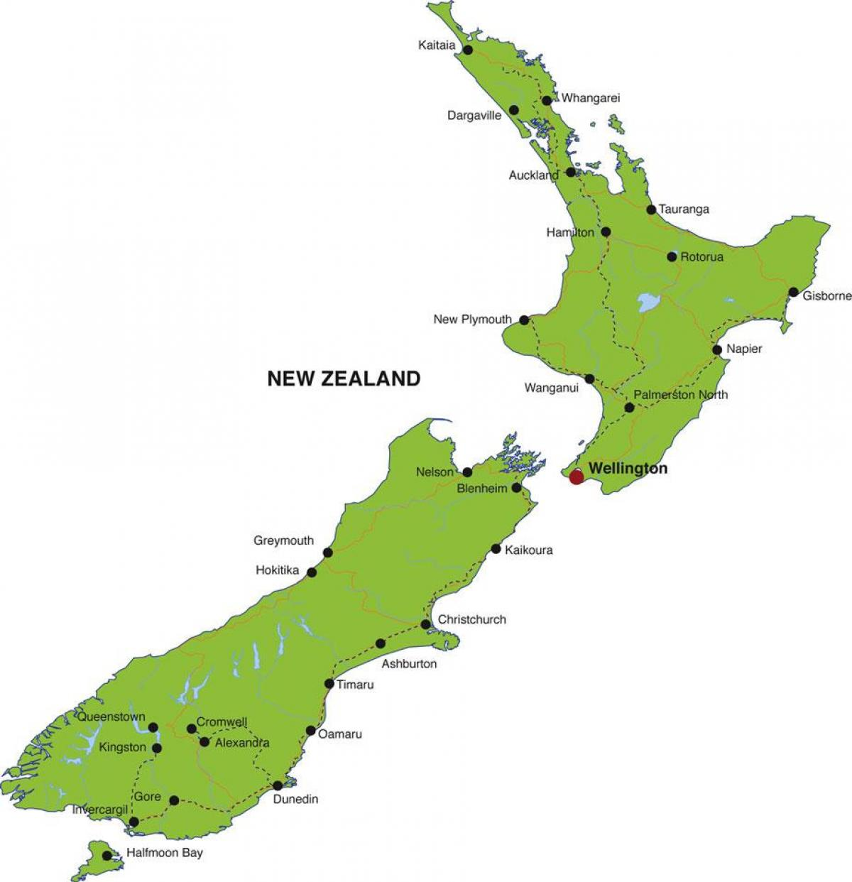 New Zealand States Map Of