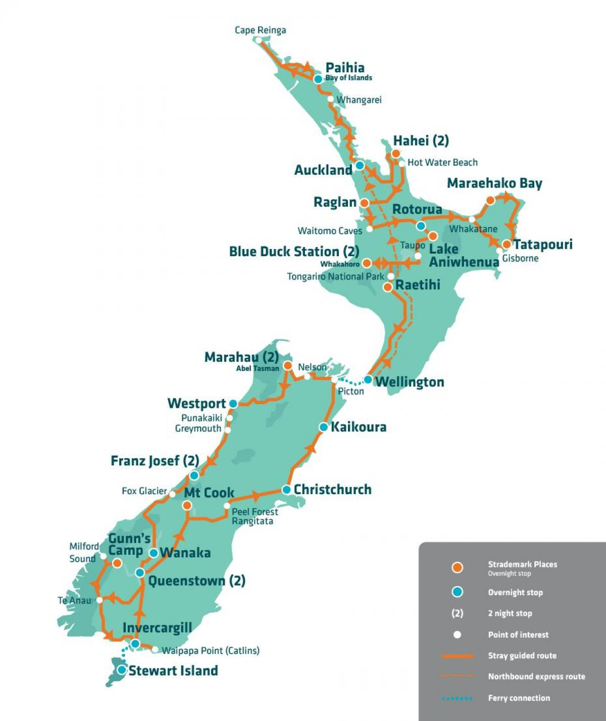 Travel Map New Zealand.New Zealand Travel Map New Zealand Attraction Map