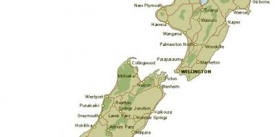 Map of detailed new zealand