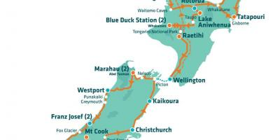New zealand tourist attractions map